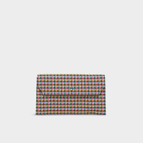 Dora Multi Tweed Envelope Clutch