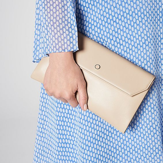 Dora Trench Leather Clutch