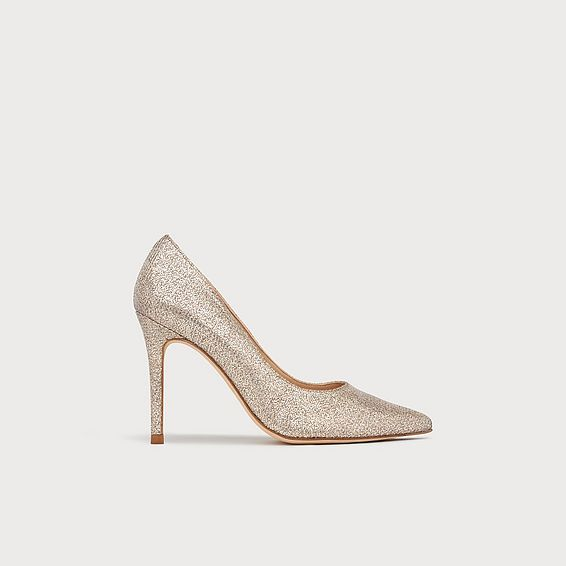 33b1f3d8d Fern Champagne Lurex Pointed Toe Courts