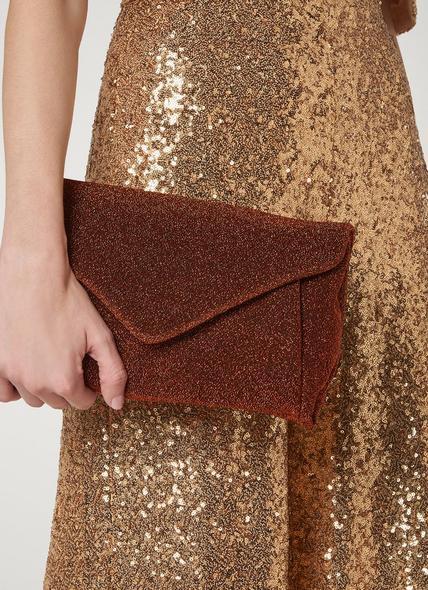 Lorna Bronze Clutch Bag