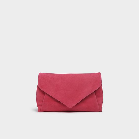 Lorna Pink Suede Envelope Clutch
