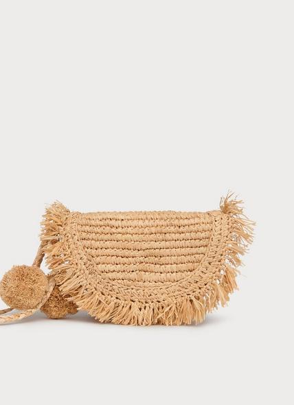Lucille Natural Raffia Clutch Bag