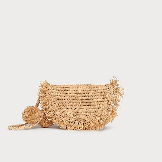Lucille Natural Raffia Clutch Bag