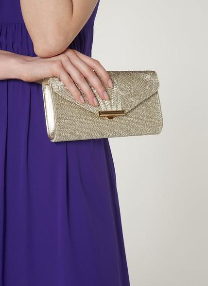 Lucy Gold Lurex Rope Clutch