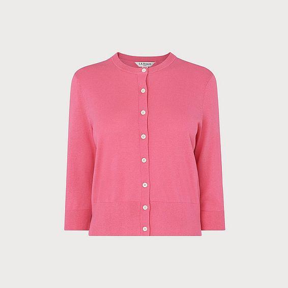 Aila Pink Silk Cotton Cardigan 79e257d83