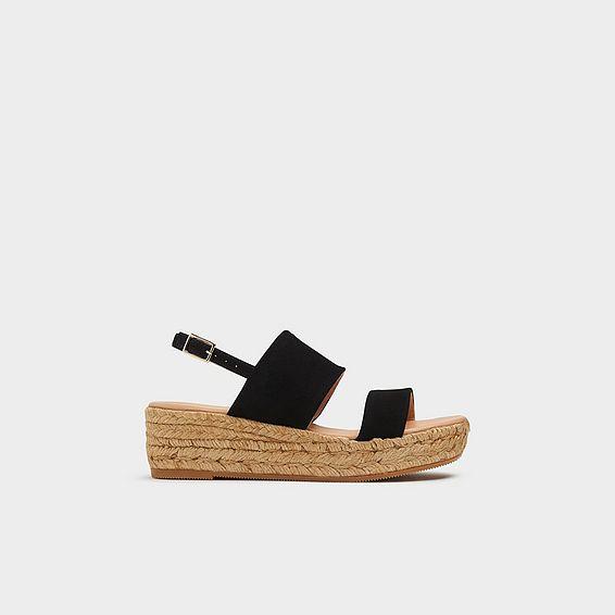 905826434eb9 Cona Black Suede Espadrille Sandals