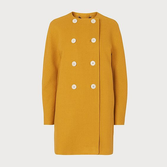 Tammie Yellow Wool-Cotton Coat