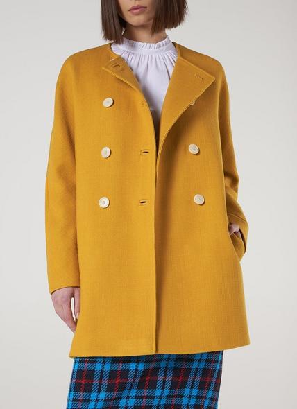 Tammie Yellow Wool-Cotton Coat