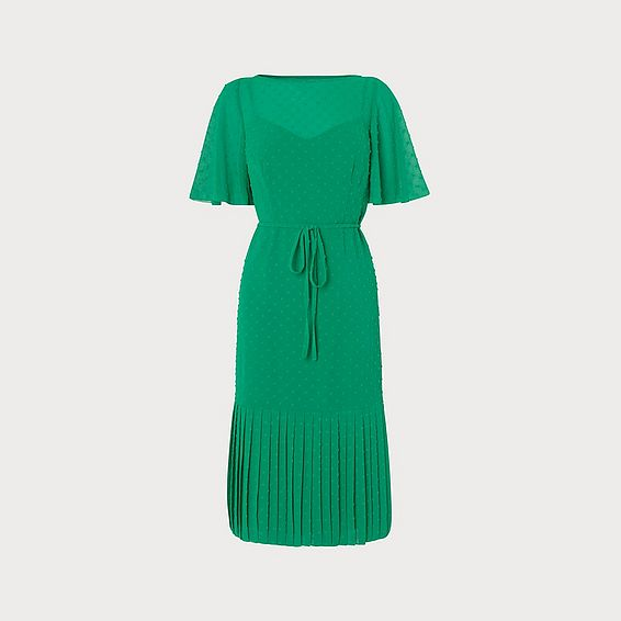 Boe Self-Spot Green Midi Dress