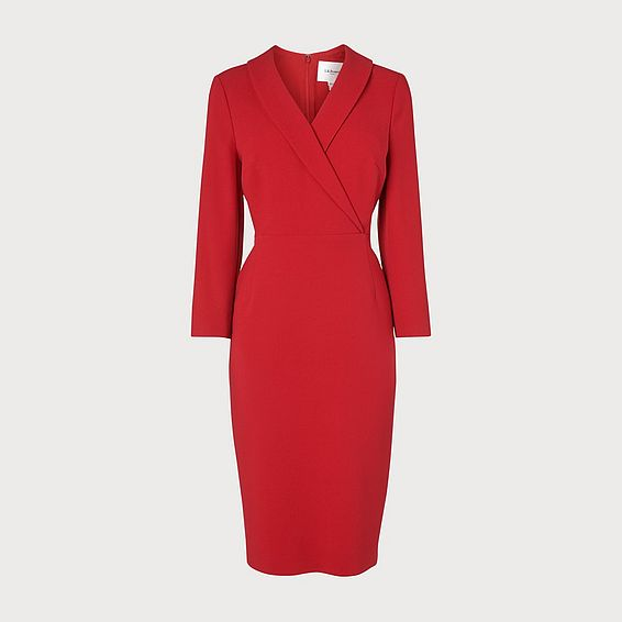 Effie Red Shift Dress