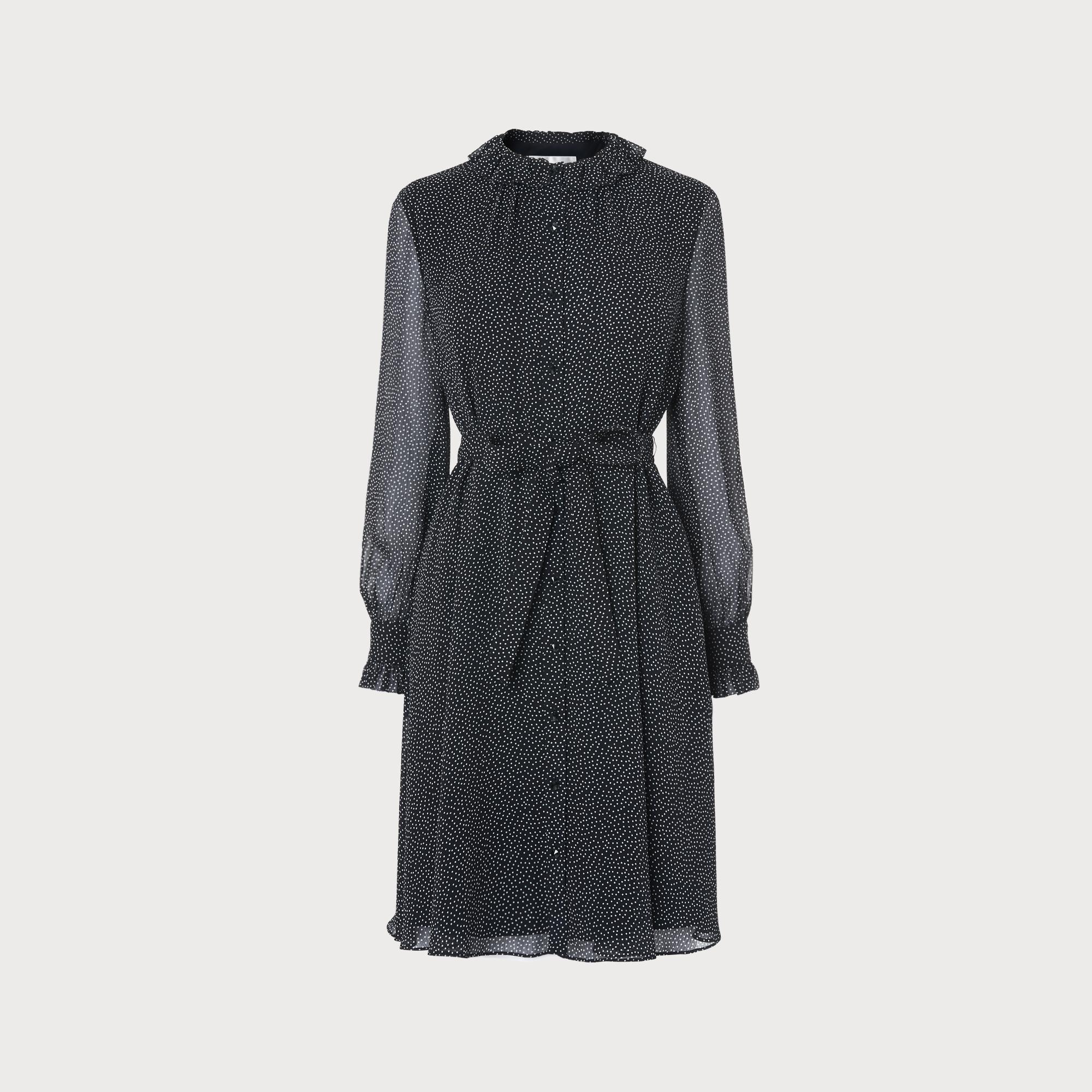 Navy Polka Dot Dress