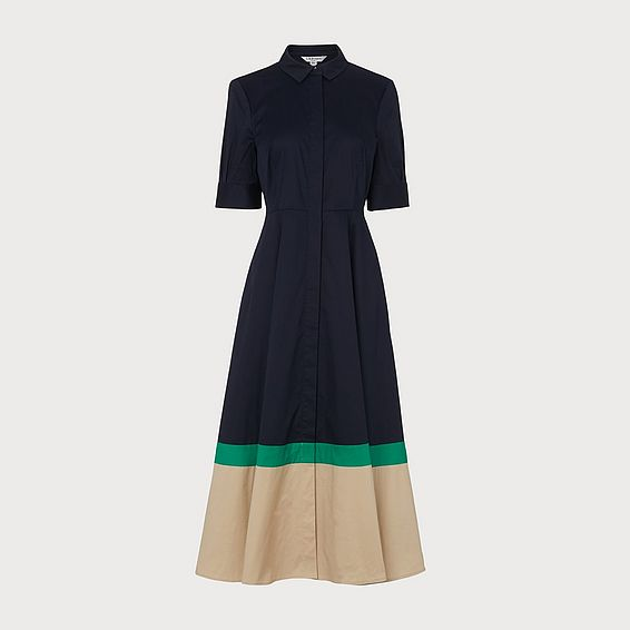 Emilie Blue Shirt Dress