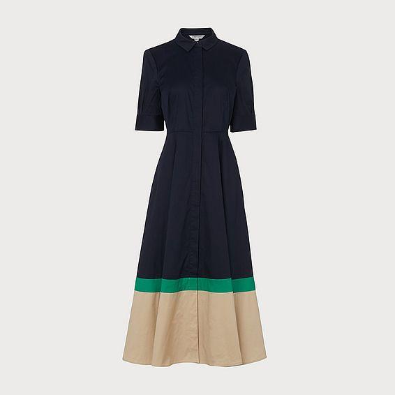Emilie Blue Shirt Dress