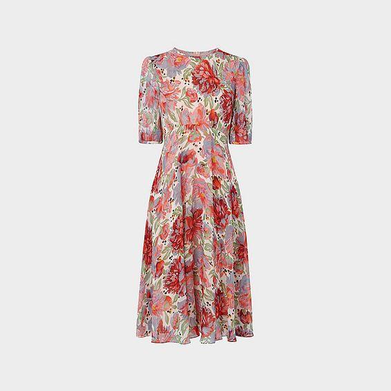Garland Multi Silk Dress