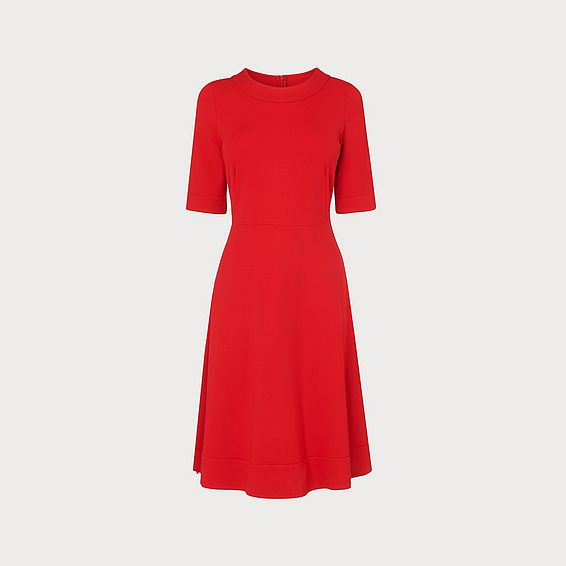 Ivelina Red Jersey Dress