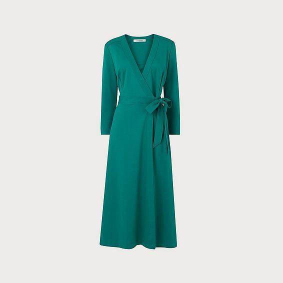 Juno Green Wrap Dress