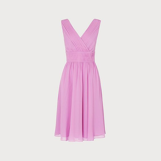 Lori Lilac Silk Midi Dress