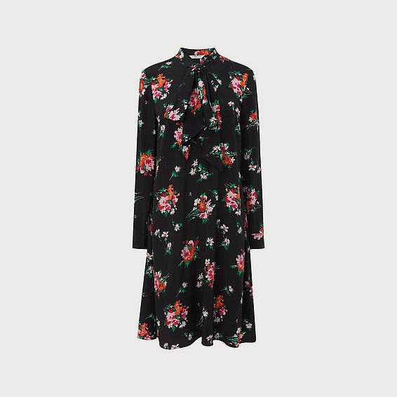 Lotte Floral Silk Dress
