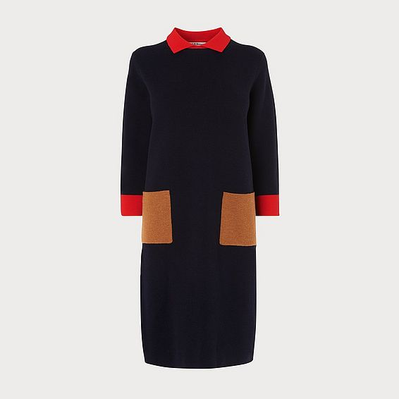Melanie Navy Knitted Dress