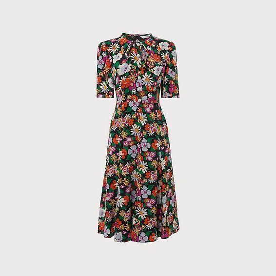 Montana Silk Floral Dress