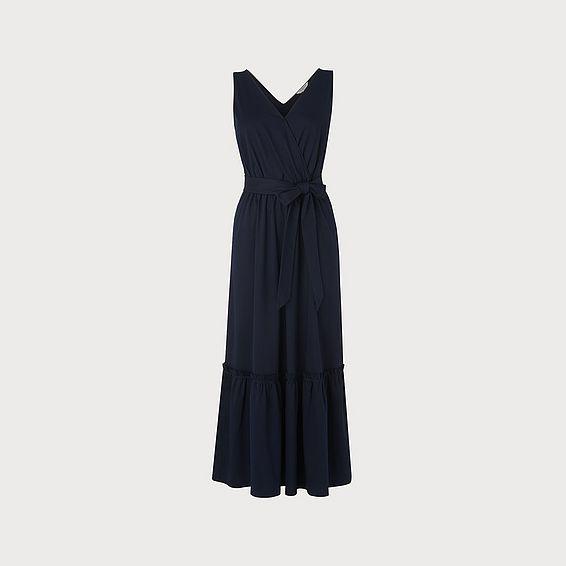 Nicole Navy Cotton Dress