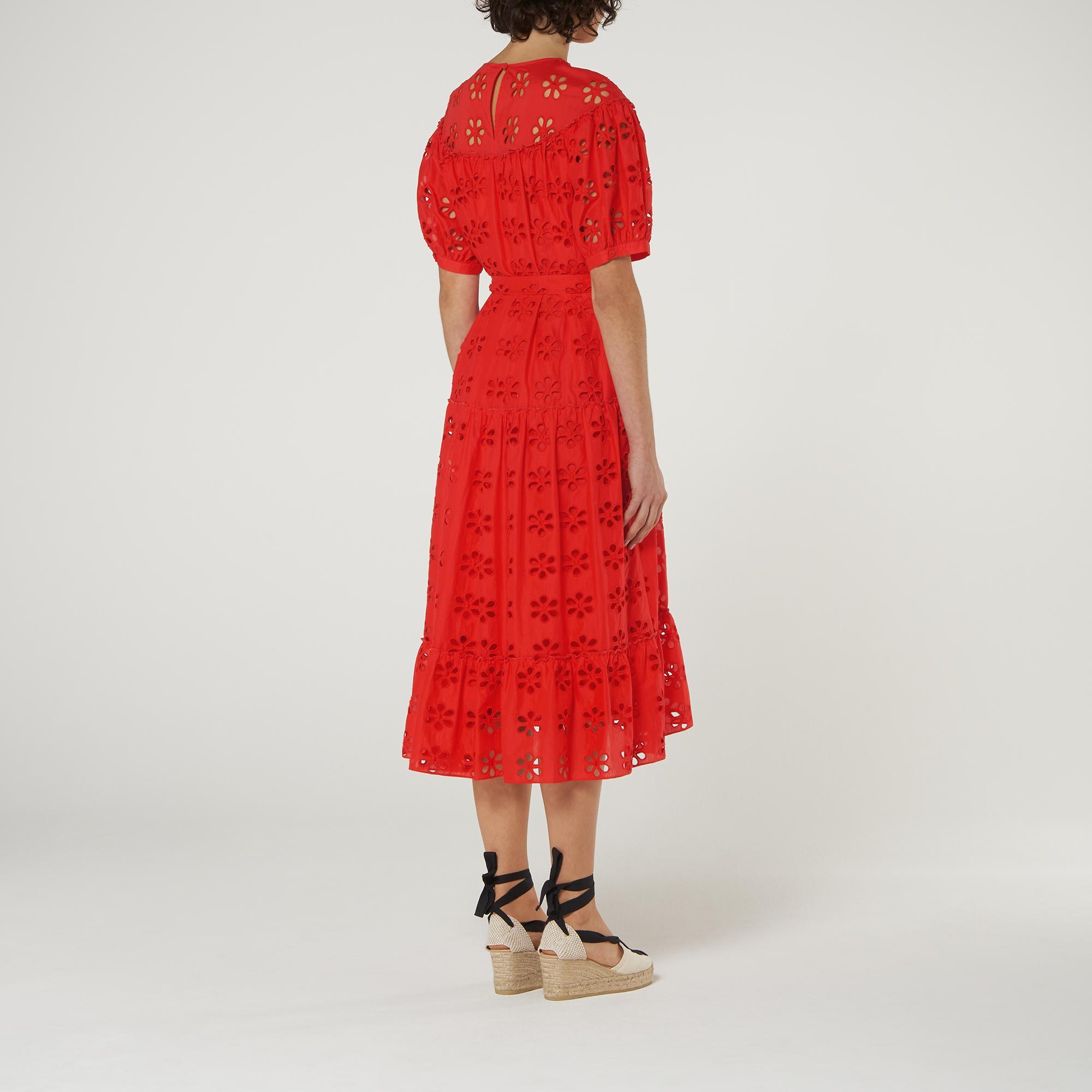 L-K-Bennett-Rego-Broderie-Anglaise-Cotton-Midi-Dress thumbnail 15