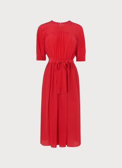 Reina Red Midi Dress