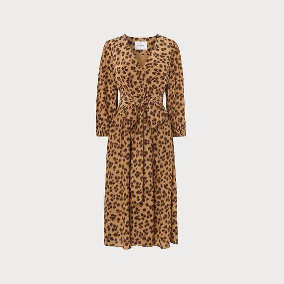 Roman Leopard Print Midi Dress