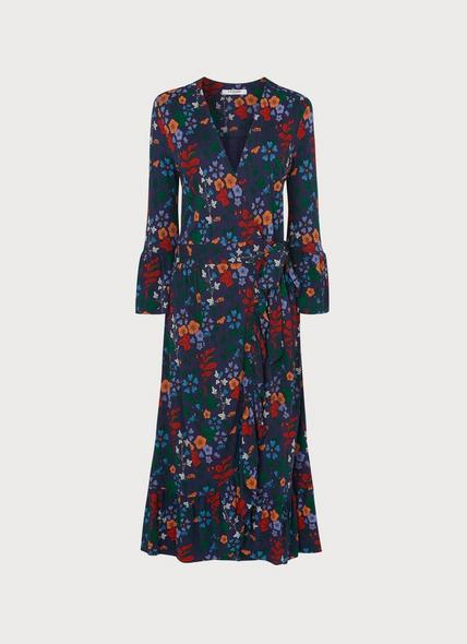 Vika Floral Print Wrap Dress