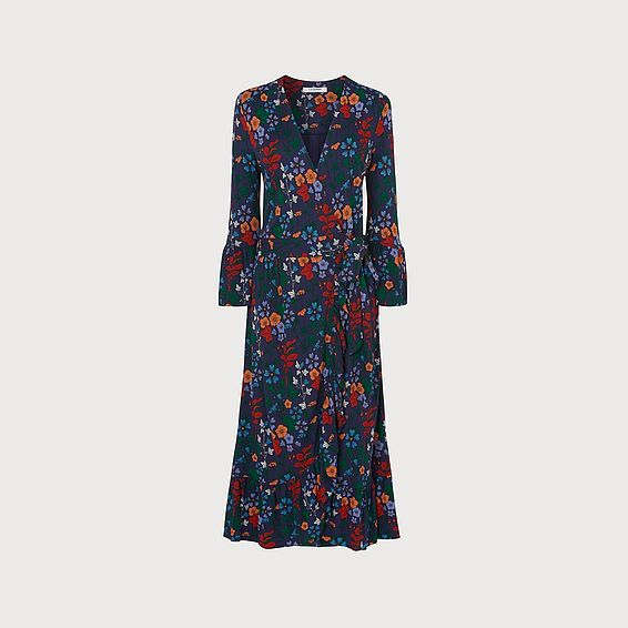 Vika Floral Print Wrap Dress