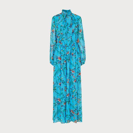Wylie Blue Multi Silk Jumpsuit