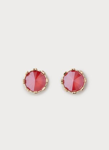 Lauren Red Crystal Stud Earrings