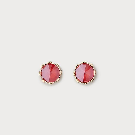 Lauren Red Crystal Stud Earrings