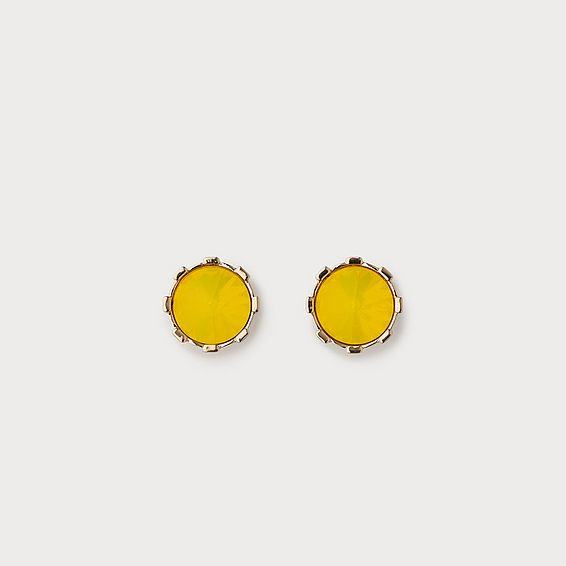 Lauren Yellow Crystal Stud Earrings