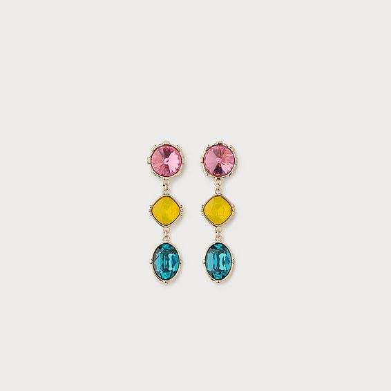 Lily Crystal Drop Statement Earrings