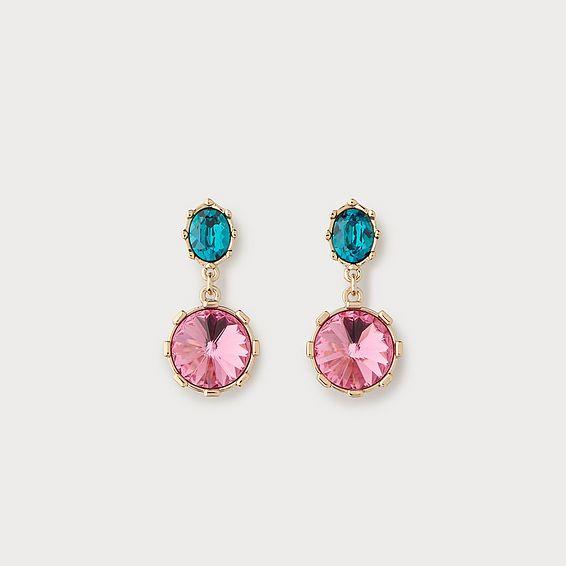Swarovski Louisa Pink Crystal Drop Earrings