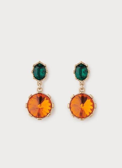 Swarovski Louisa Orange Crystal Drop Earrings