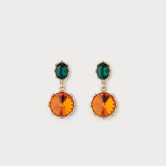 Swarovski Louisa Orange Crystal Drop Earrings