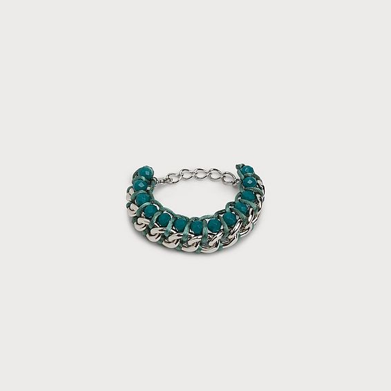 Becky Green Silver Statement Bracelet
