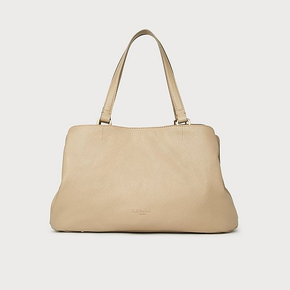 Leighton Taupe Leather Tote Bag