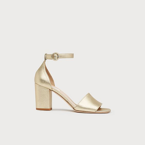 Hester Gold Metallic Leather Sandals