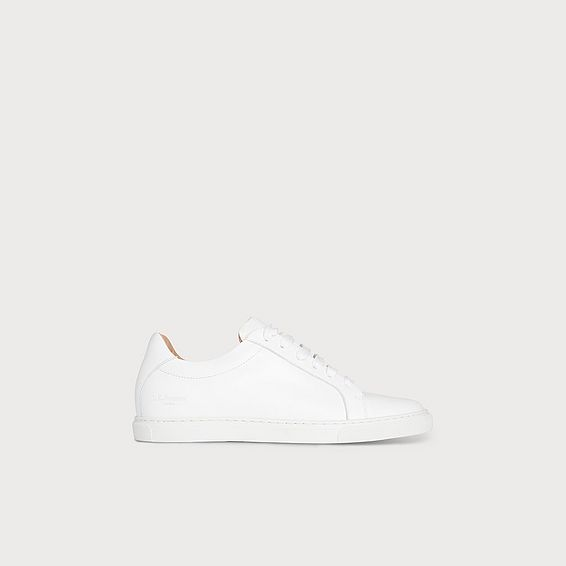 Jack White Leather Lace Up Trainers