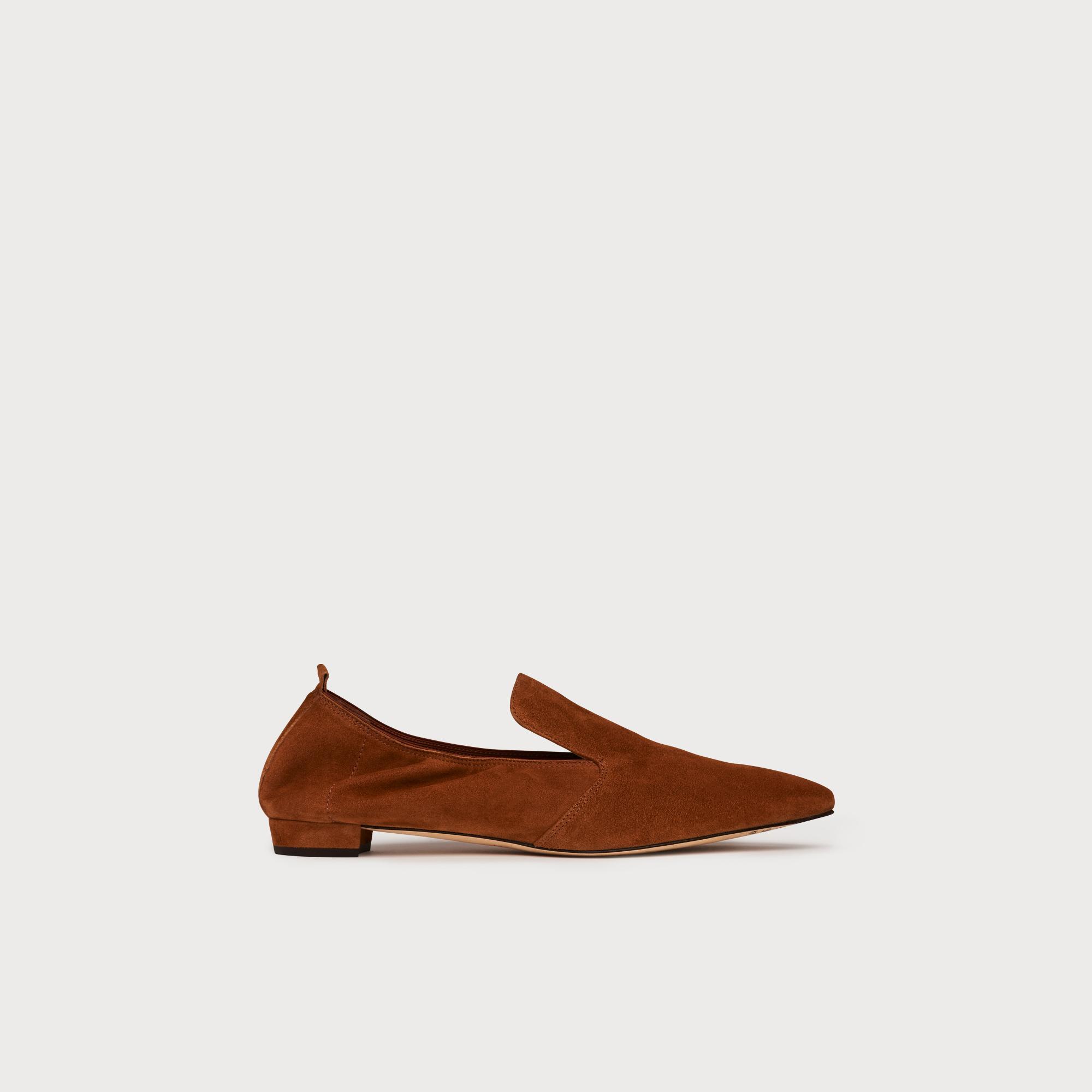 a58b7ca34 Raven Tan Suede Flats   Shoes   L.K.Bennett