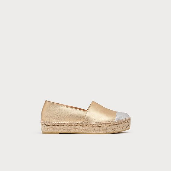 Talia Leather Flat Espadrilles