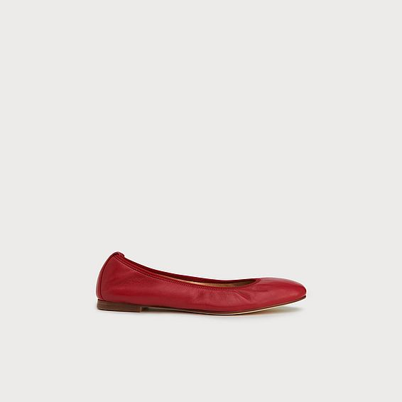 c6990296b5cb Trina Red Leather Ballet Pumps