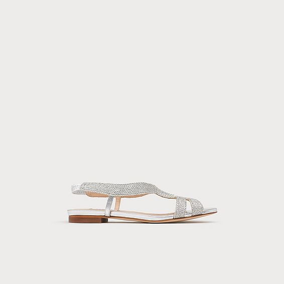 Maya Silver Rope Flat Sandals