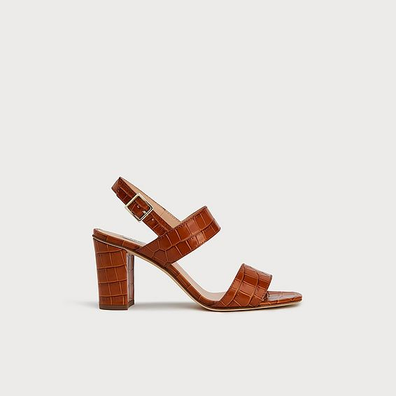 Rhiannon Tan Croc Effect Sandals