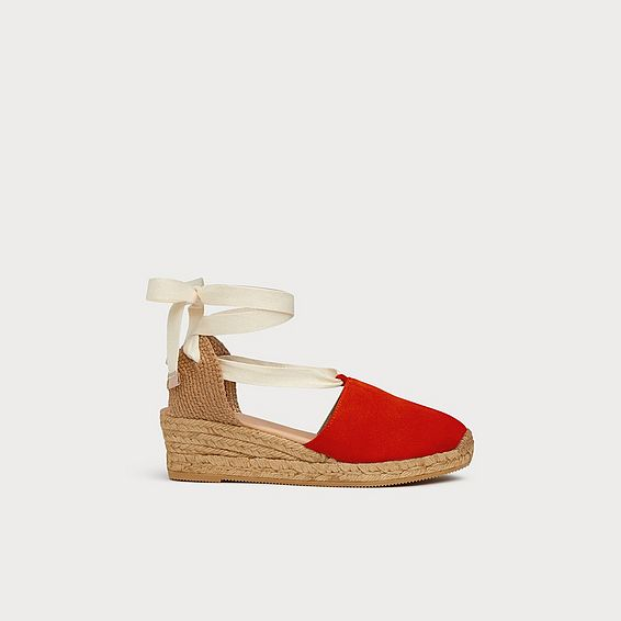Mable Orange Suede Espadrilles