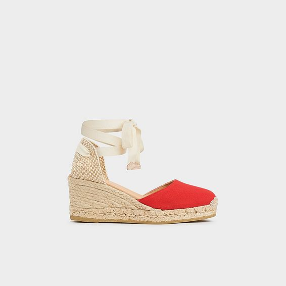 Maureene Red Canvas Espadrilles