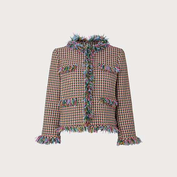 Conilia Raw Edge Tweed Jacket